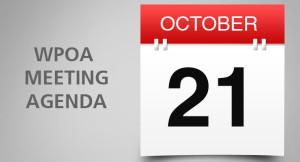 Adgenda Monthly Board Meeting  Wednesday, October 21, 2015, 7:00 P.M.